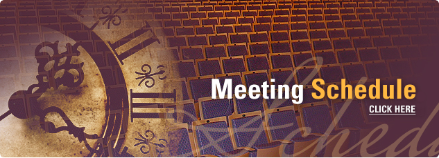 Meeting Schedule. Click here.