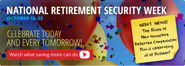 Think ahead. National Retirement Security Week October 16-22