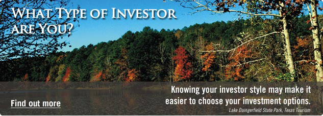 What type of investor are you? Knowing your investor style may make it easier to choose your investment options. Find out more.