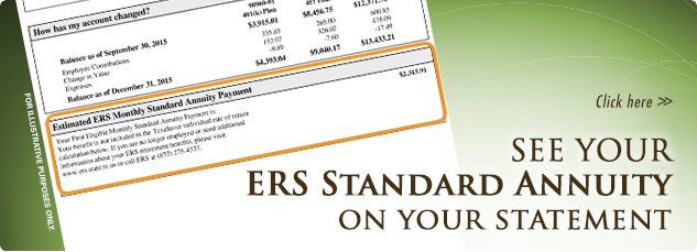 Click here. See your ERS Standard Annuity on your statement.