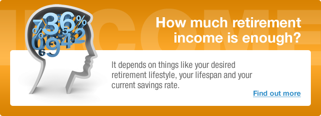 How Much Retirement Income is Enough? It depends on things like your desired retirement lifestyle, your lifespan and your current savings rate.